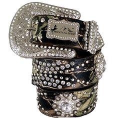 ♥ Her Station Handbags Wholesale ♥ Montana West Handbags, Wholesale Western Style Belts, Flip Flops, Sunglasses, Nicole Lee Hanbags, Wholesale handbags, Dallas, TX : GENUINE LEATHER WITH RHINESTONE WESTERN BELT-CAMO-S