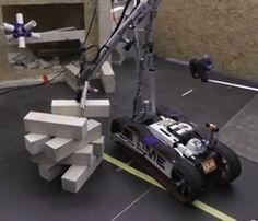 Blokken stapelen, specifieke robot uitdaging tijdens Robocup.