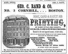 1849 ad: Book, Card & Fancy Job Printing