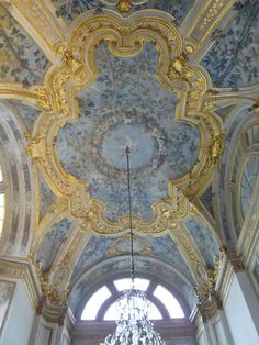 Ceiling decoration at Palazzo Madama in Turin, Italy