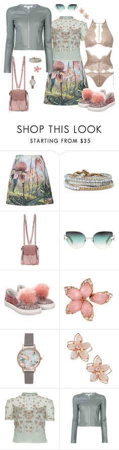 """Без названия #104"" by andragorachic ❤ liked on Polyvore featuring ADAM, Chan Luu, Chloé, Fendi, step2wo, Stephen Webster, Olivia Burton, NAKAMOL, Temperley London and Elizabeth and James"