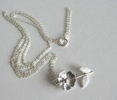 Rose & Stem Necklace