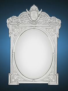 This magnificent mirror is a superior example of Venetian glassmaking. circa 1880 ~ M.S. Rau Antiques