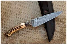 Integral Cable Damascus Knife