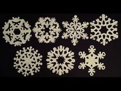 Paper snowflake tutorial - learn how to make snowflakes in 5 minutes - EzyCraft - YouTube