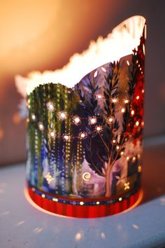 'Fairy Lights' lantern by Kate Lycett - Make with pop cans?