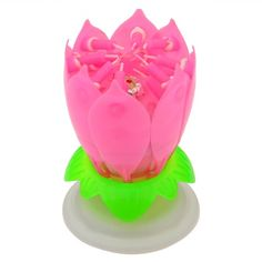 How to learn to Original Price US $3.98 Discount 13% Double Petal Pink Blossom Lotus flower Birthday Music candle Sparkle for cake Velas for Birthday Party Event Decoration your product #Candles#Holders