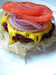 Raw Vegan Beet Burger