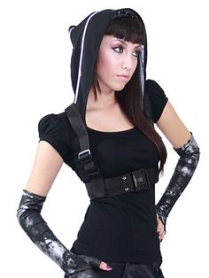 NightShade harness with hood by Plastik Wrap