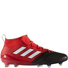 429bbb5a4c6 adidas ACE 17.1 Primeknit FG Red White Black Firm Ground Soccer Cleats -  model BB4316