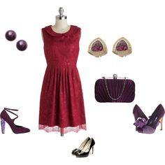 """""""Deep Summer - red and purple"""" by adriana-cizikova on Polyvore"""