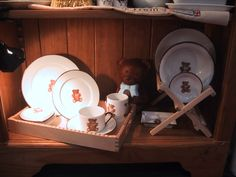 small plates and cups hand painted Limoges porcelain teddy bear collection, designer Patricia Deroubaix, hand painted in Limoges porcelain. cereal bowl/ all shapes on special orders Fragile, Cupped Hands, Small Plates, Cereal Bowls, Cups, Creations, Porcelain, Teddy Bear, Hand Painted