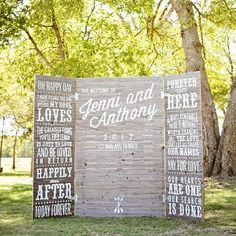 amazing photo backdrop - could match to the stationary