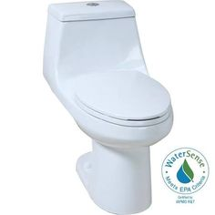 glacier bay gpf high efficiency dual flush elongated allinone toilet in white