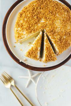 lemon crunch cake hawaii fork to belly