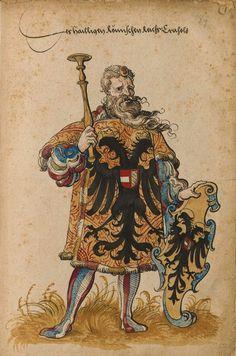 «Der heiligen römischen Reich Herold». Faszikel VIII: Wappenherolde der süddeutschen Länder (212r) -- «Sammelband mehrerer Wappenbücher», Augsburg? (Süddeutschland), um 1530 [BSB Cod.icon 391].