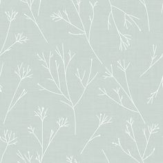 Walls become a backyard garden with Green Twigs Peel and Stick Wallpaper by RoomMates. This pattern, inspired by the natural world, gives any surface a dimensional look with little effort. Add organic details to any space for an accent wall, full roo Bamboo Wallpaper, Wallpaper Panels, Adhesive Wallpaper, Wallpaper Roll, Peel And Stick Wallpaper, Green Wallpaper, Bathroom Wallpaper, Wallpaper Ideas, Roommate Decor