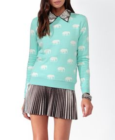 ITS SO CUTE! turquoise and mini elephants! i can't stop!