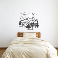 Wall decal / forest / Night sky /wall sticker / home decor / vinyl