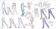 Estrutura:   O corpo mangá  pode seguir 3 escalas: de 6, 7 e 8 cabeças. Estas determinam o tamanho e proporções do corpo de um modo sim...