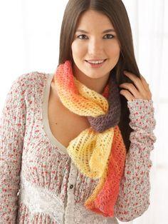 All About You Scarf   Yarn   Knitting Patterns   Crochet Patterns   Yarnspirations
