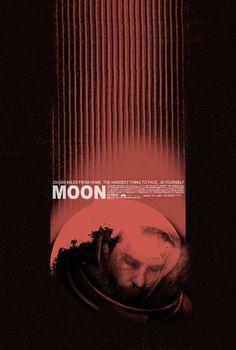 MOON alternative movie poster by TheArtOfAdamJuresko on Etsy
