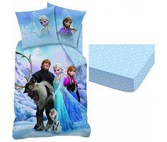 Disney Frozen set dekbedovertrek + hoeslaken Sven polycotton