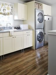 laundry rooms with stacked washer dryer - Google Search