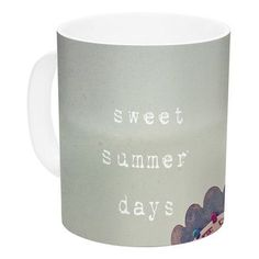 KESS InHouse Sweet Summer Days by Susannah Tucker 11 oz. Carnival Ceramic Coffee Mug