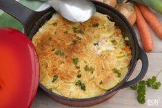 Verrukkelijk vispannetje uit de oven! - Bonapetit Oven Dishes, Happy Foods, Quick Easy Meals, Macaroni And Cheese, Good Food, Brunch, Food And Drink, Healthy Recipes, Healthy Foods