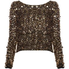 Alice + Olivia Pixie Sequined Crop Top ($158) ❤ liked on Polyvore featuring tops, sweaters, shirts, blusas, long sleeve sequin shirt, long-sleeve crop tops, long sleeve tops, long sleeve sequin top and cropped long sleeve shirt