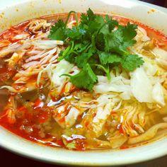 Lunchtime Thai-pork pho.