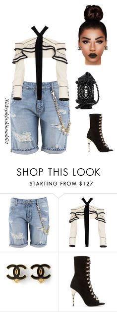 """""""Untitled #1581"""" by stylesbynickey ❤ liked on Polyvore featuring FRACOMINA, Proenza Schouler, Chanel and Balmain"""
