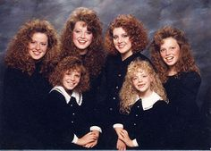 Man, I would have had it made in the shade in the 80's. My bad hair day is their good hair day.