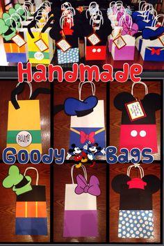 Custom Disney party grab bags. Mickey Minnie Donald daisy Pluto goofy