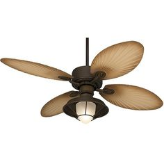 "52"" Casa Vieja Aerostat Palm Outdoor Ceiling Fan ($290) ❤ liked on Polyvore featuring home, home decor, fans, ceiling fans, fan, brown, casa vieja fans, outside home decor, outdoor lighting kits and tropical ceiling fans"