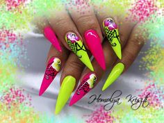 Best Nails - neon stiletto