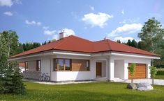 House Plans Mansion, Family House Plans, Village House Design, Village Houses, Door Design, Exterior Design, Modern Bungalow House, Luxury Homes Dream Houses, Small House Design