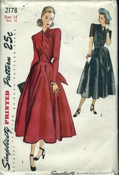 Fashion ilustration vintage illustrators sewing patterns ideas for 2019 - CLOTHES MODA Moda Vintage, Vintage Vogue, Vintage Apron, Vintage Outfits, Vintage Style Dresses, 1940s Dresses, Vintage Clothing, Vintage Dress Patterns, Clothing Patterns