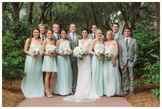Such a romantic wedding! We're so in love with this pastel wedding// Allie & Becker's Beach Wedding// ft. #DonnaMorgan bridesmaid dresses in Beach Glass// Candice K Photography