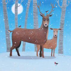Scottish Deer Christmas Cards