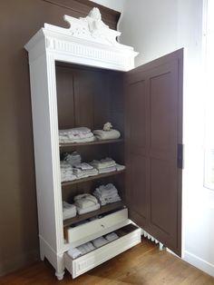 1000 id es sur relooking de l 39 armoire sur pinterest armoires de m lamine armoires et armoire. Black Bedroom Furniture Sets. Home Design Ideas