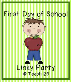 First Day of School Linky Party:  FREE printable