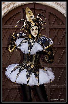 Harlequin: #Jester, Carnival in Venice.