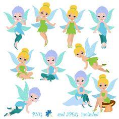 Fairy Digital Clipart/ Cute Fairy clip por SandyDigitalArt en Etsy