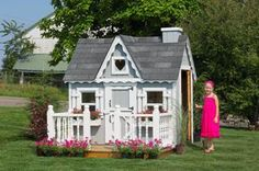 4' x 6' Victorian Playhouse. Ships in 1 -2 days in an easy-to-assemble DIY Kit! Get your complete kit for $1115 this Christmas! Visit our website www.cottagekits.com for more information.