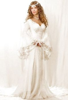 Faerie Brides Medieval and Celtic Wedding Gowns Pagan Wedding, Renaissance Wedding, Bridal Gowns, Wedding Gowns, Medieval Wedding Dresses, Wedding Tuxedos, Wedding Suits, Celtic Dress, White Roses Wedding