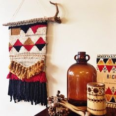 Handwoven wall hanging by Warped Threads