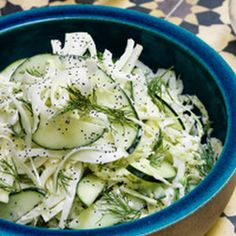 Cabbage, Cucumber and Fennel Salad with Dill