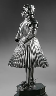 Costume Armour for Foot Combat, probably made for Albrecht, Margrave of Brandenburg, Duke of Prussia, Northern Germany (Brunswick?), c. 1526, iron, leather © KHM-Museumsverband.